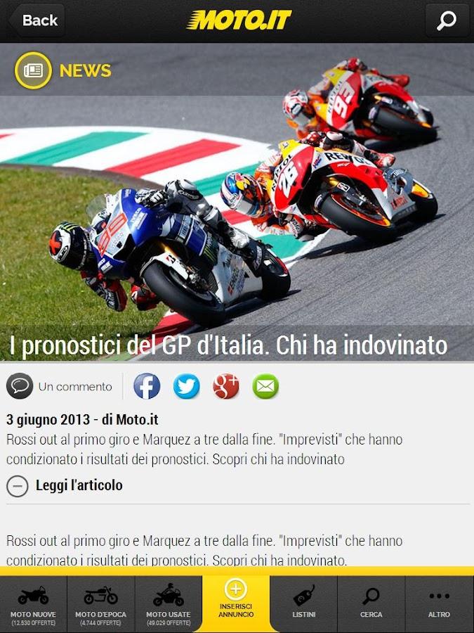 Moto.it- screenshot