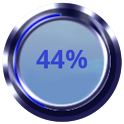 Blue Battery Disc icon