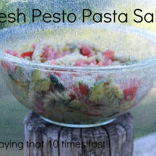 Fresh Pesto Pasta Salad and TASTEFUL TUESDAY
