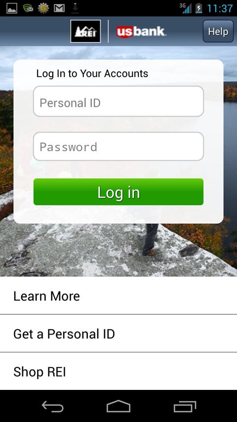 REI Visa - screenshot