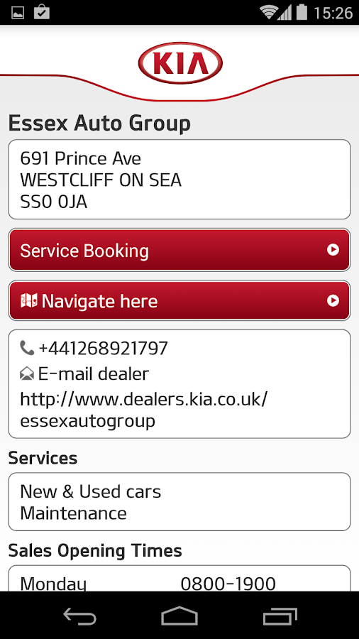 Kia Service- screenshot