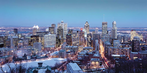 Quebec-City-cityscape-in-winter - The Quebec City cityscape in winter.
