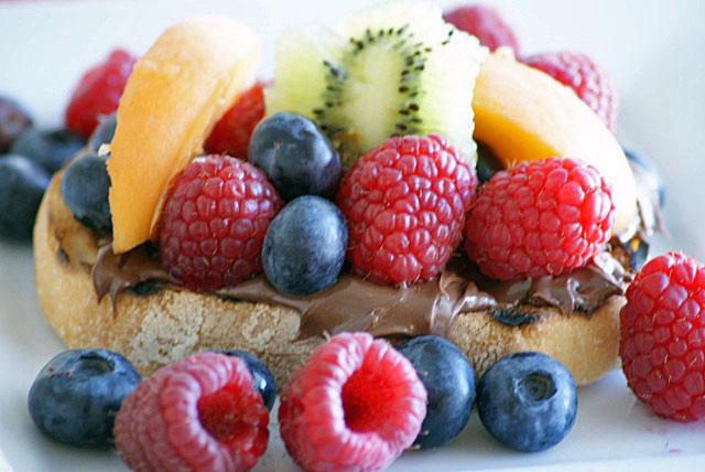 Nutella Bruschetta with Fresh Fruit Recipe