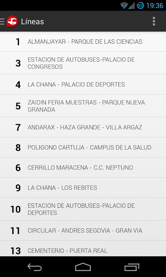GranadaBus Donación - screenshot