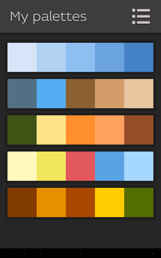 Pictoria - Color Palettes- screenshot