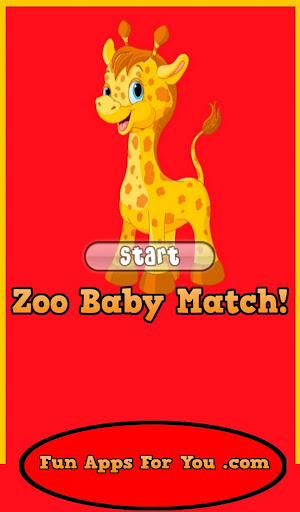 Baby Zoo Animals Match Game