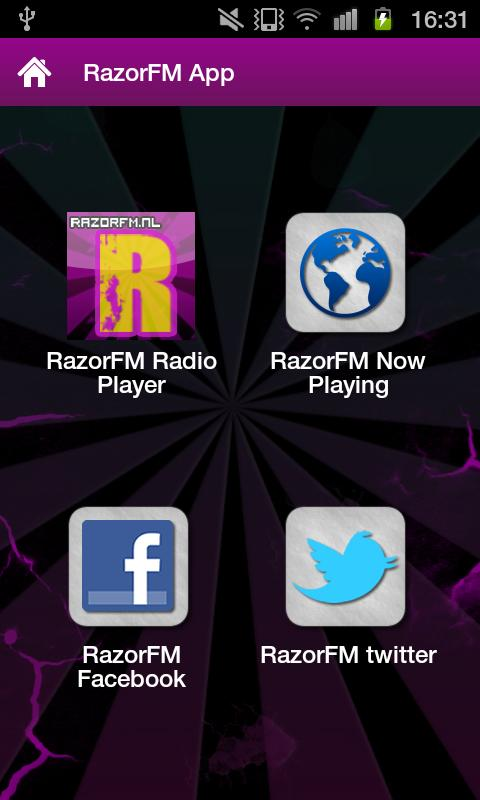 RazorFM Hardstyle Radio App - screenshot