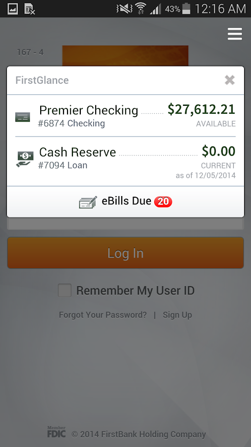 FirstBank Mobile Banking - screenshot