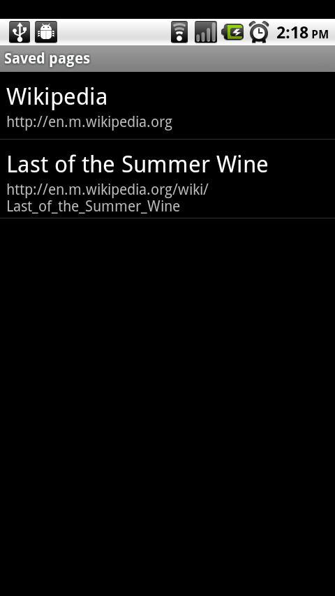 Wikidroid Plus - screenshot