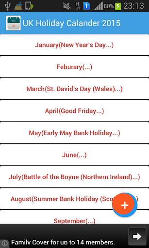 United Kingdom Festivals 2015