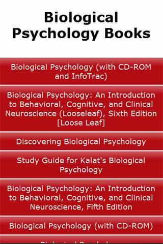 Biological Psychology Books