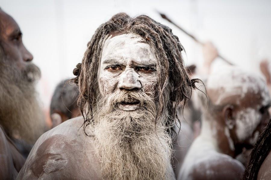 Naga Sadhu by Julie Higelin - People Portraits of Men ( religion, kumbh mela, india, sadhu, naga sadhu )