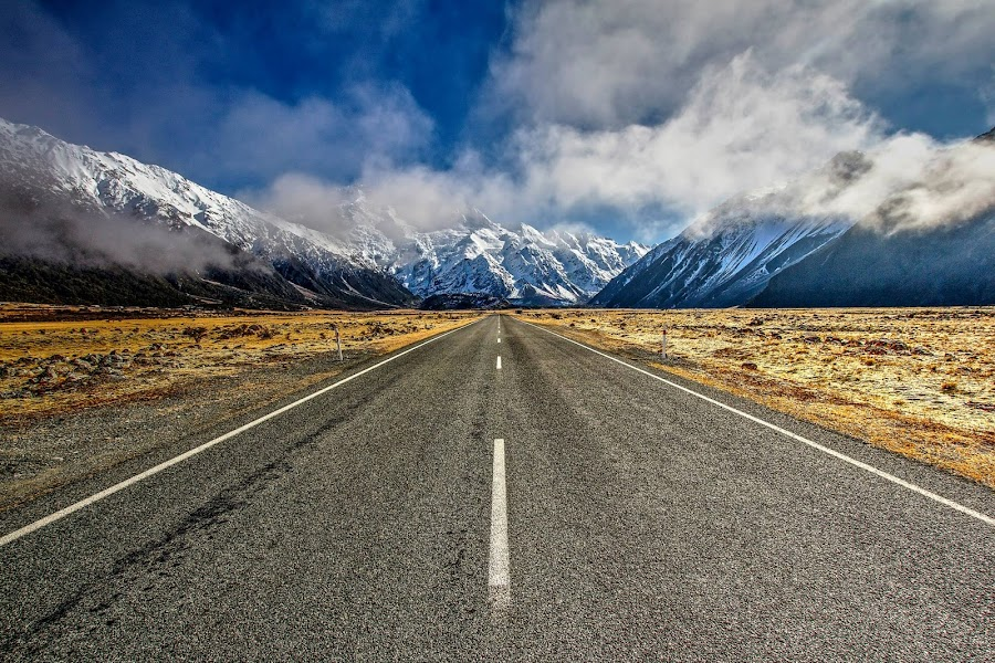 Aoraki Mount Cook National Park by Mal Meadows - Transportation Roads