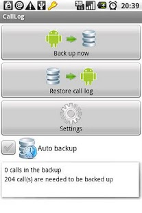 CallLog backup - screenshot thumbnail