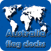 Australia flag clocks