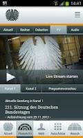 Screenshot of Deutscher Bundestag