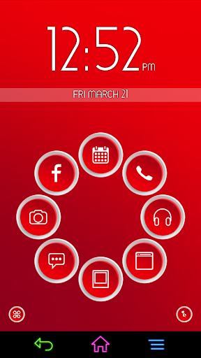 3D Red for Smart Launcher