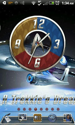 A NEW STAR TREKKIE Clock Set