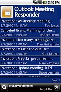 Outlook Meeting Responder - screenshot thumbnail