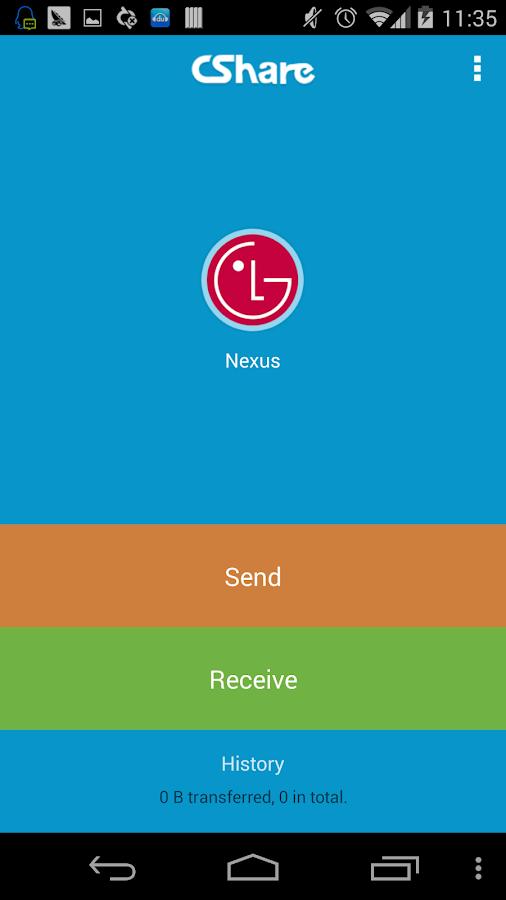 CShare(files transfer) - screenshot