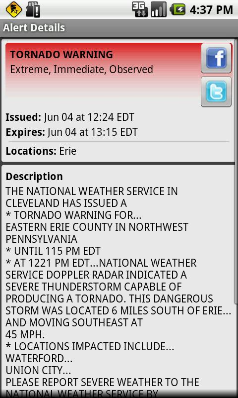 Active Alerts - Weather Alerts- screenshot