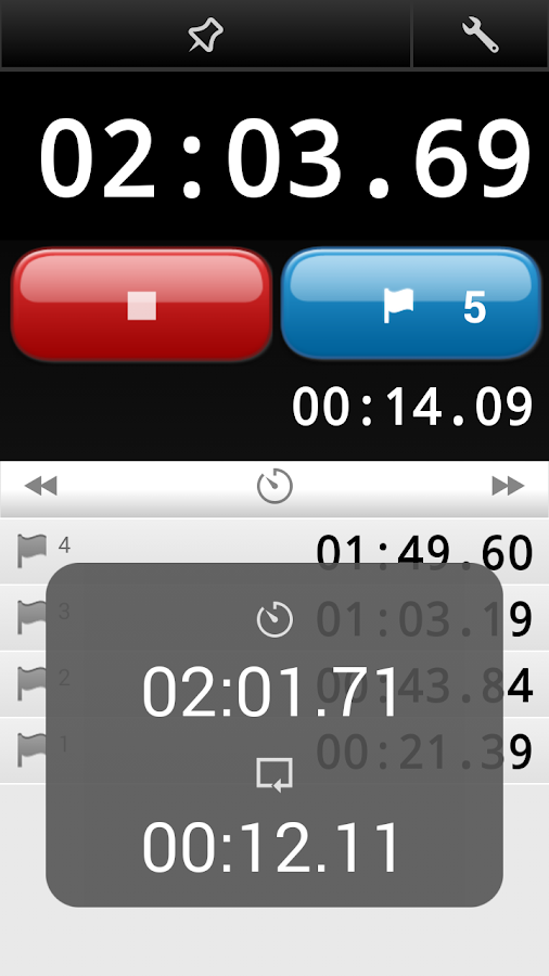 LapStar Stopwatch- screenshot
