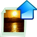 Flicker uploader free icon