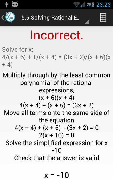 Learn Algebra - screenshot