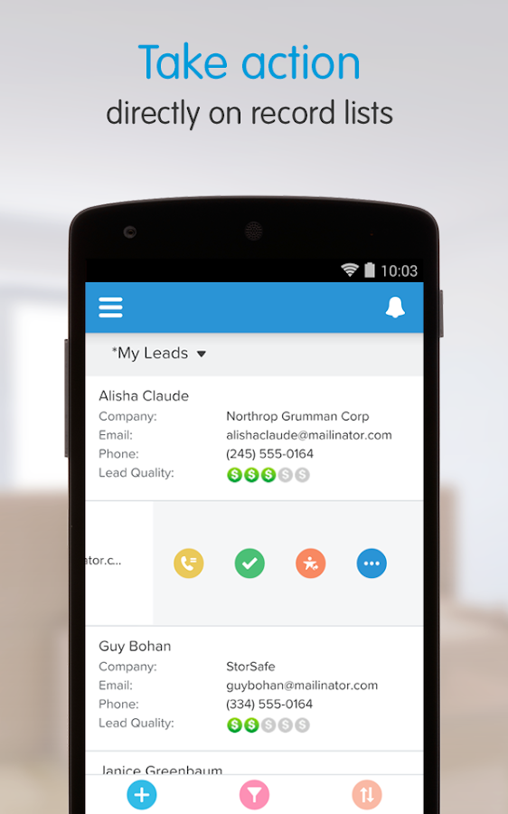 Salesforce1 - screenshot