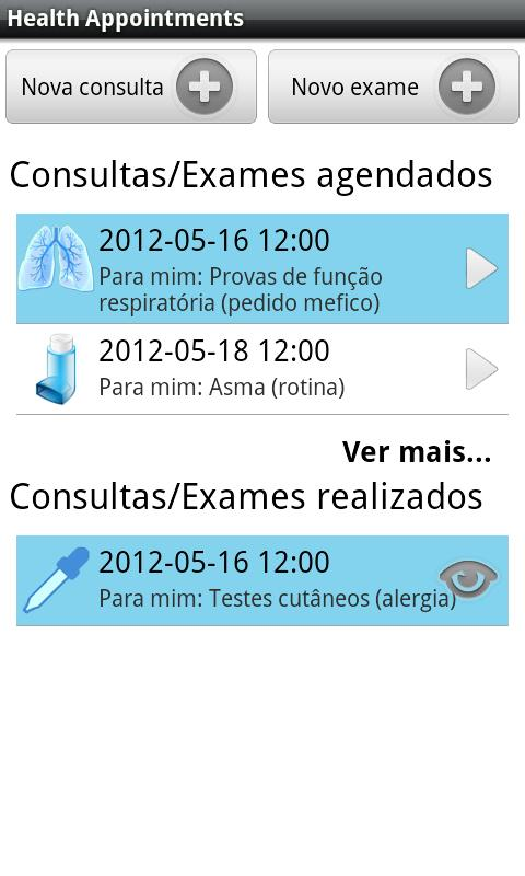 Health Appointments - screenshot