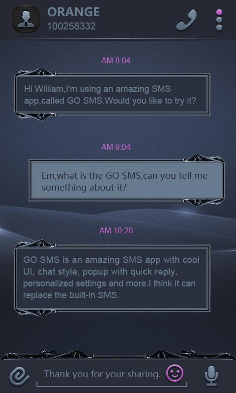 GO SMS BLACK WHIRLWIND THEME- screenshot