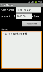 Event Cost Planner - screenshot thumbnail