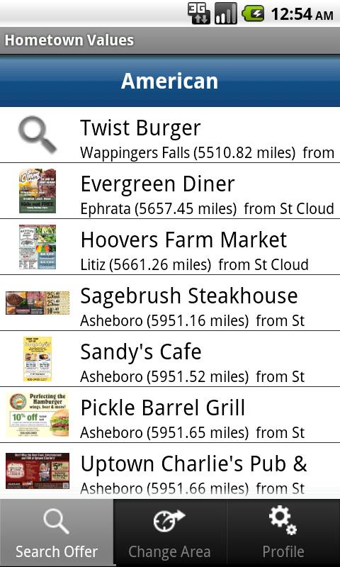 Hometown Values Local Coupons - screenshot