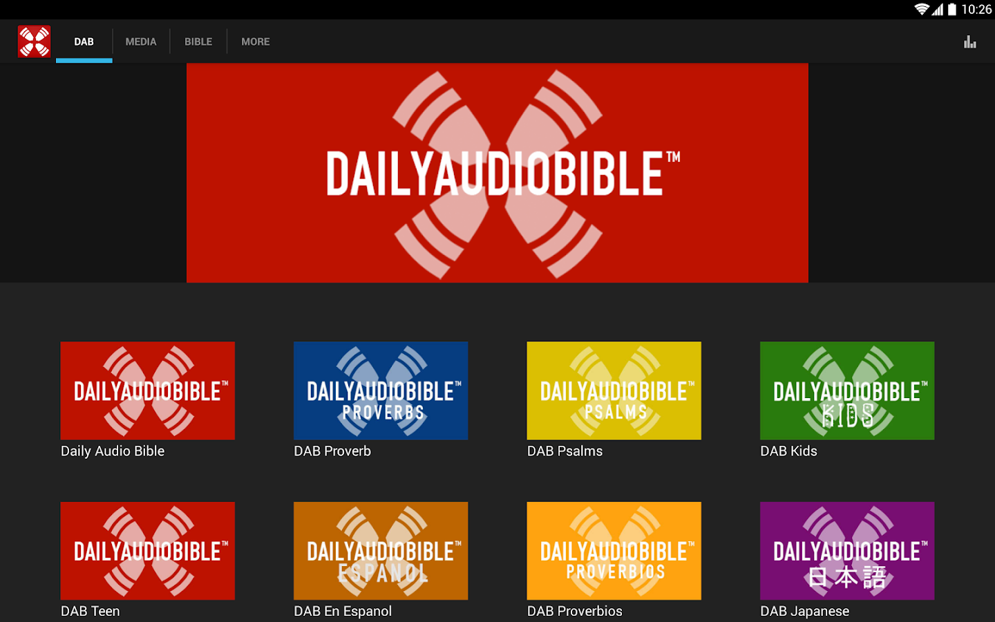 Daily Audio Bible- screenshot