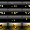 Dialer Black Gold Gloss Skin icon
