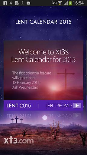 Xt3 Lent Calendar 2015