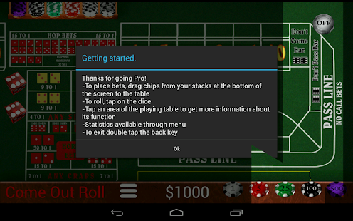 Craps Trainer Pro- screenshot thumbnail