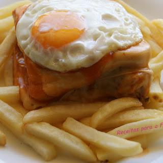 Portuguese Francesinha Sandwich.