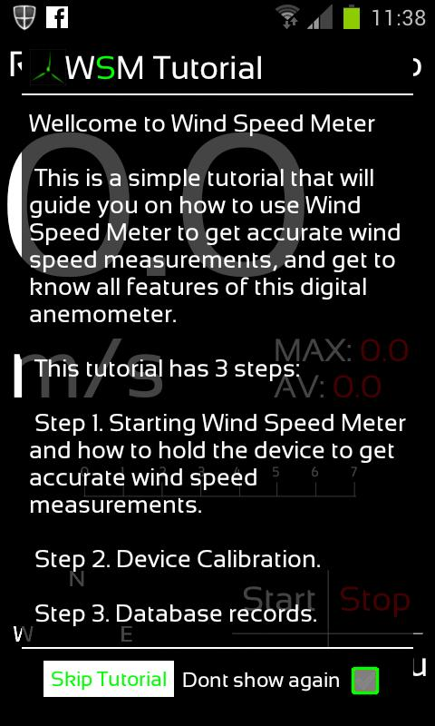 Wind Speed Meter - screenshot