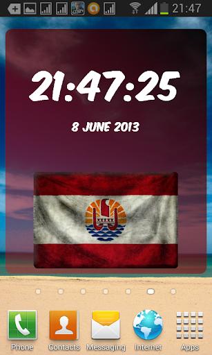 Tahiti Digital Clock