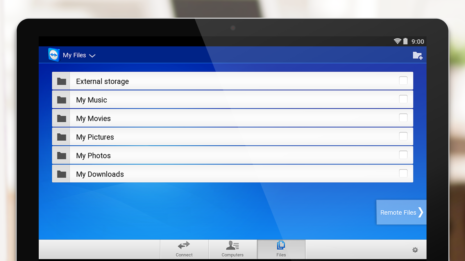TeamViewer for Remote Control – Capture d'écran
