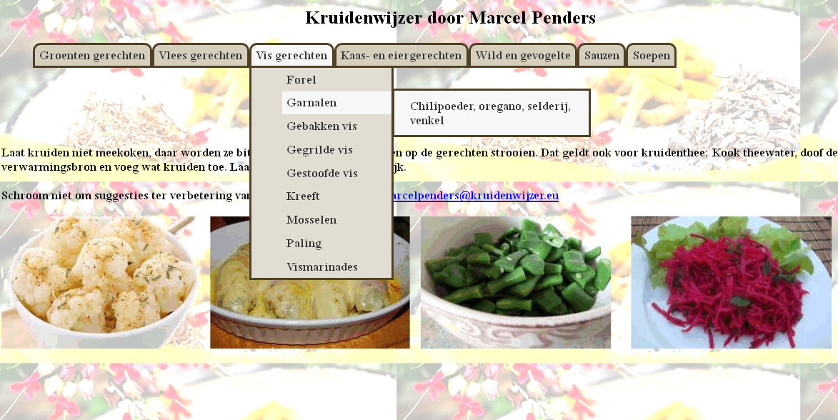 Kruidenwijzer - screenshot