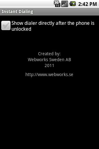 Instant Dialing- screenshot