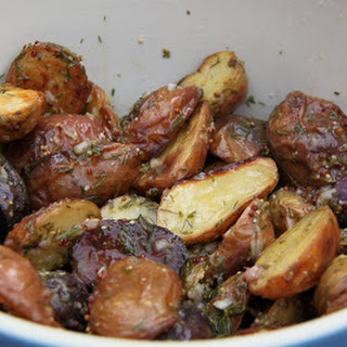 Roasted Potato Salad with Lemon and Dill Dressing