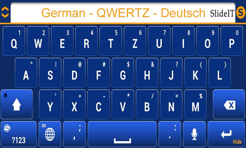 SlideIT German QWERTZ Pack - screenshot