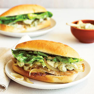 Turkey Sandwiches with Caramelized Onions and Charmoula Mayo