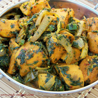Spicy Sweet Potato and Spinach Curry.