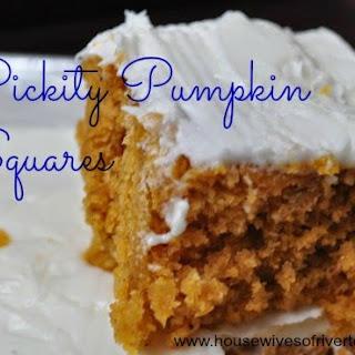 Pickity Pumpkin Squares.