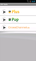 Screenshot of ERF Radio