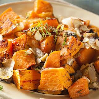 Simple Garlic-Roasted Sweet Potatoes.